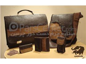 ست کیف دانشچویی و دیپلمات چرمی ( دست دوز ) کد:105