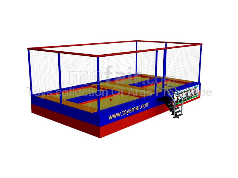 4 bed  Olympic & junior outdoor trampoline