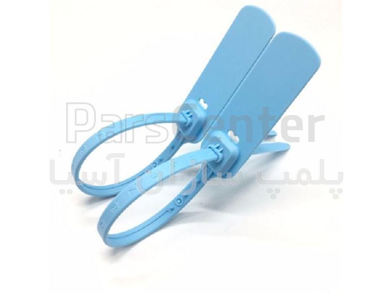 پلمپ تسمه ای پلاستیکی با قفل فلزی و تسمه پهن ایمنی بالا استاندارد درب جعبه ها