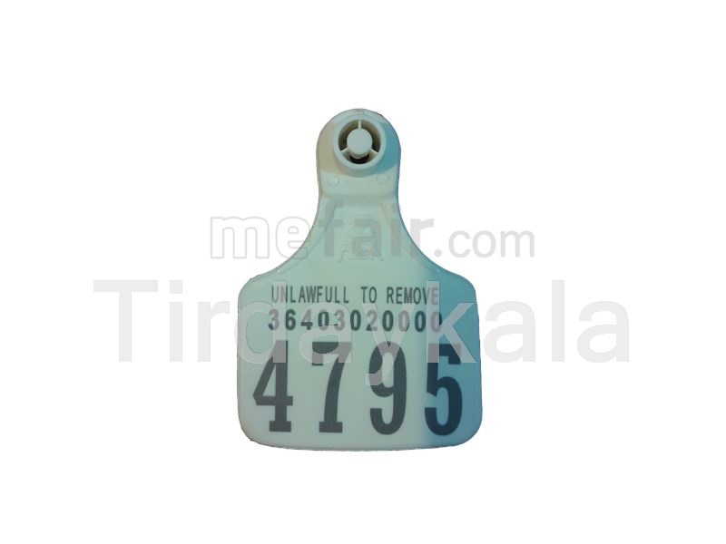 Visual ear tag - White - Small size