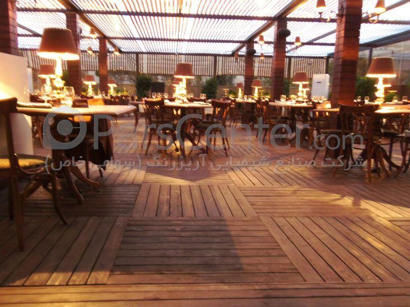 پارکت چوبی ، میز و صندلی ، تهران ، میر داماد ، رستوران ایتالیایی