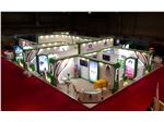غرفه سازی نمایشگاه و تجهیز غرفه شرکتمحیط زیست همدان 247 متر دی ماه 95 نمایشگاه بین المللی محیط زیست تهران