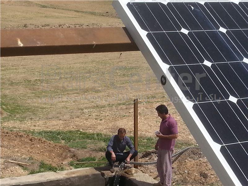 پمپ آب خورشیدی 3فاز(3.7کیلووات 5اسب بخار)3اینچ/با آبدهی 15متر مکعب درساعت وعمق چاه 35متر(همراه پنل خورشیدی)