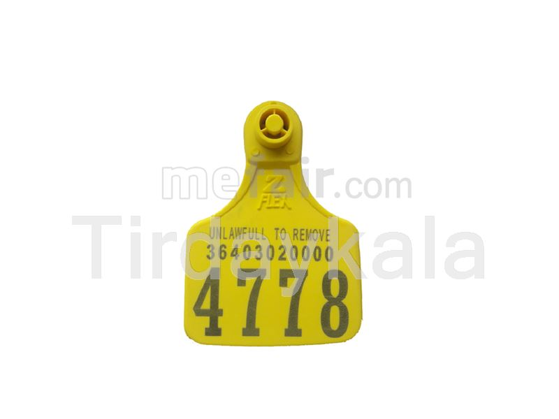 Ostrich collar tag tamper proof Yellow