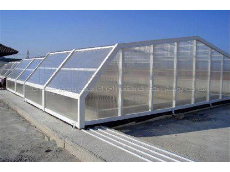 پوشش سقف استخر مدل 6 ضلعی متحرک کد E04