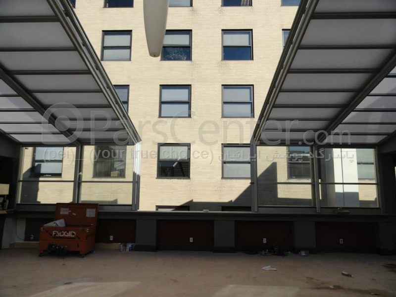 سیستم پوشش سقف متحرک رستوران مدل ال 11   The restaurant El movable roof system