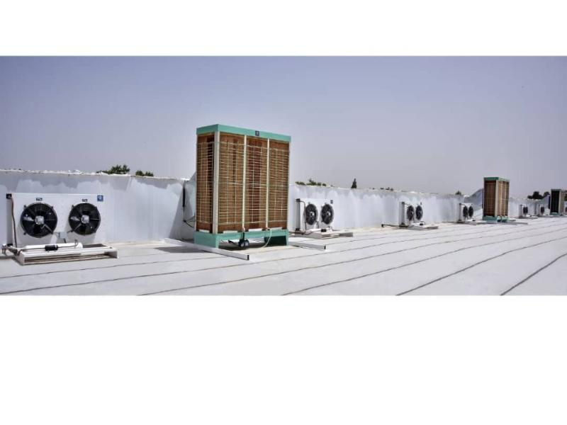 Industrial air cooler system 40000 m3/h
