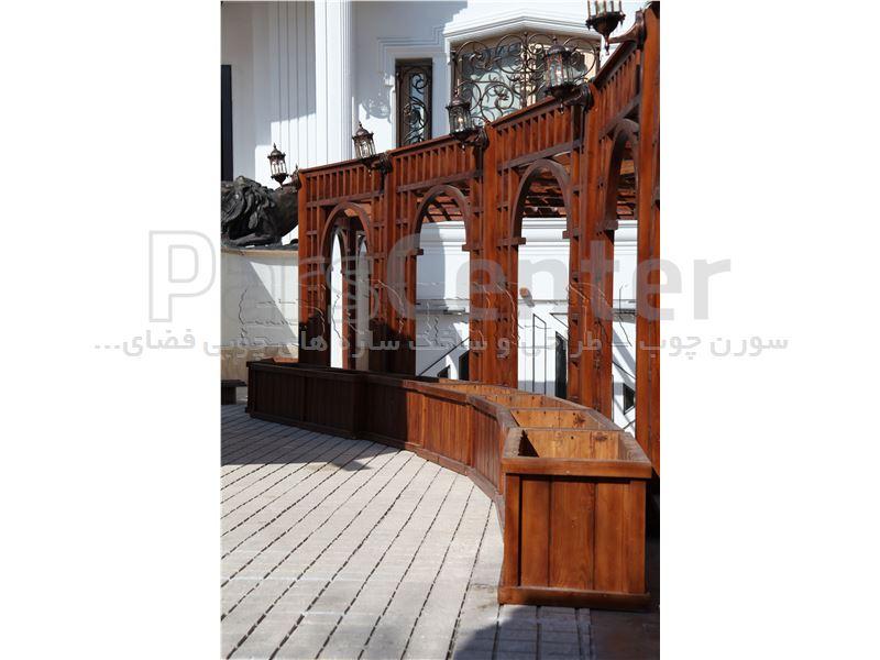 طراحی و ساخت پرگولا چوبی ( پرگولای ترکیبی واقع در شهرک غرب)
