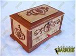 جعبه جواهرات چوبی معرق طرح ارغوان