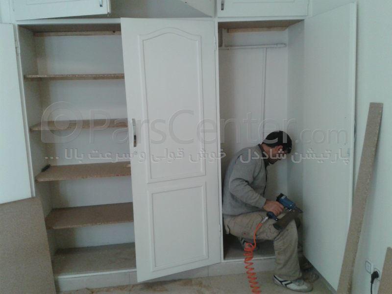 کمد دیواری و کابینت و کابینت با درب هایگلاس و کمد دیواری ریلی 22337132