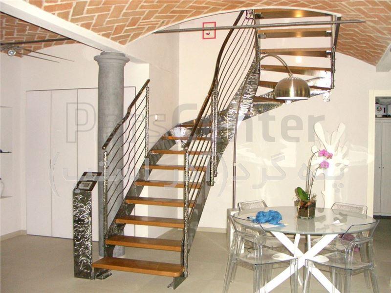 پله گرد دو محور ترکیبی