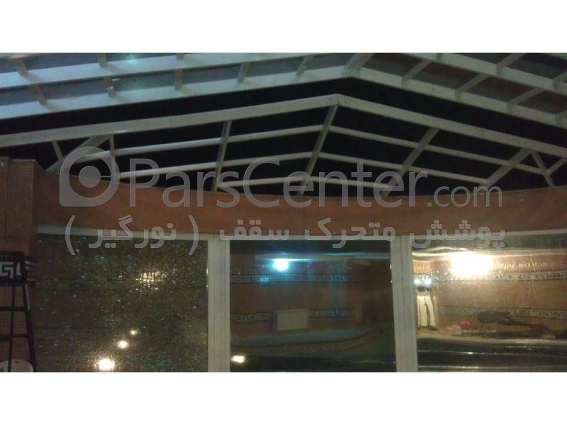 پوشش سقف استخر مدل 4 ضلعی متحرک کد PMS E07