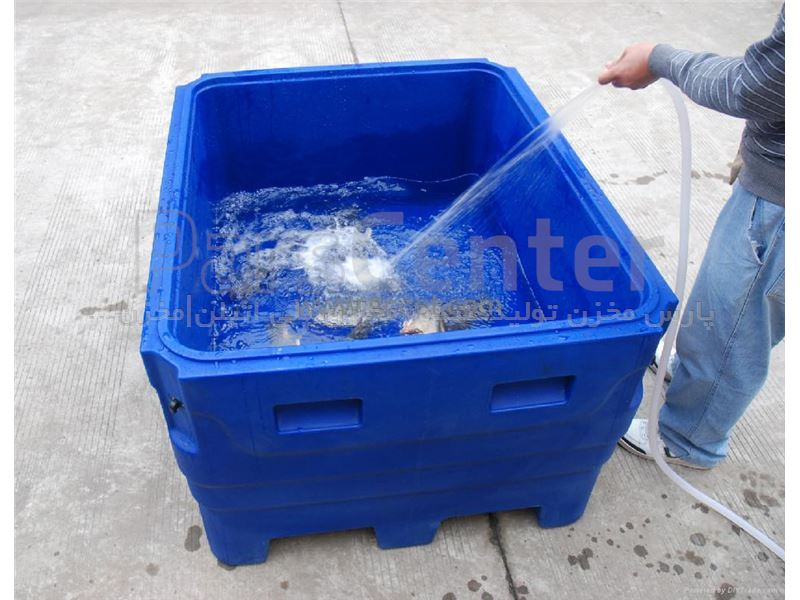 وان پلاستیکی صنعتی ( وان مخصوص پرورش ماهی ) 13.500 لیتری پارس مخزن