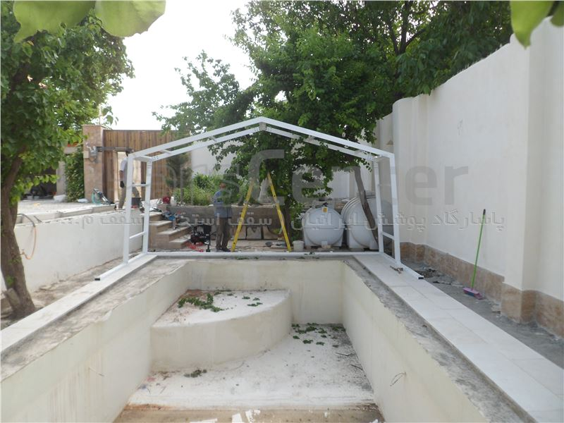 پوشش متحرک  سقف استخر - شهریار کرد امیر