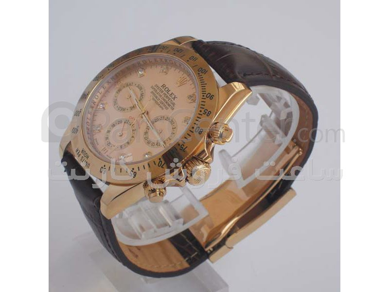 ساعت رولکس مدل  DAYTONA- شیشه ضد خش -بند چرمی- سه موتوره