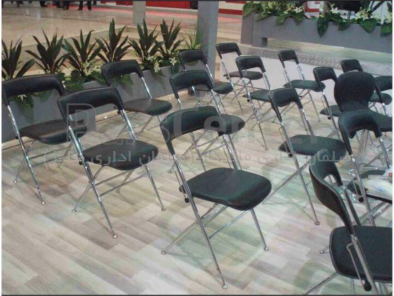 صندلی تاشو چرمی (نیلپر)