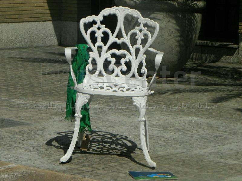 میزوصندلی آلومینیمی مدالیوم یا ویکتوریا رنگ استاتیک