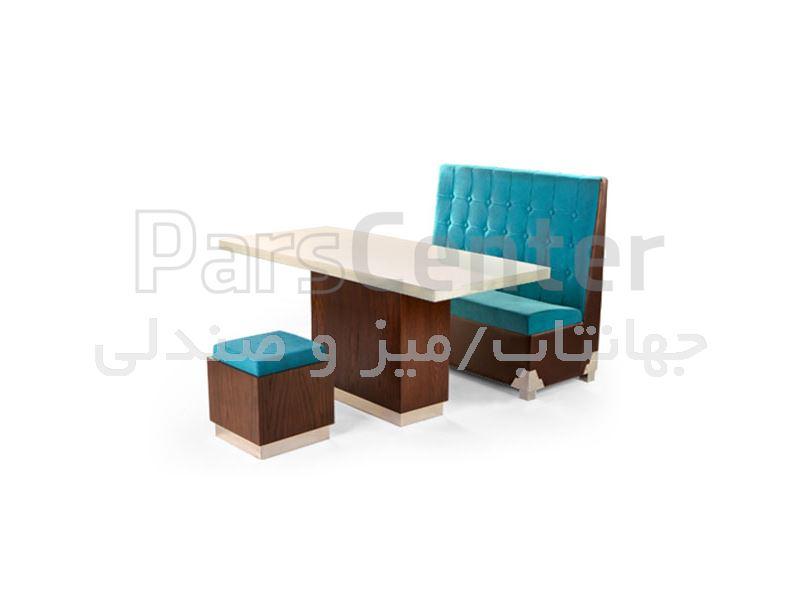 میز چوبی رستورانی مدل W96 (جهانتاب)