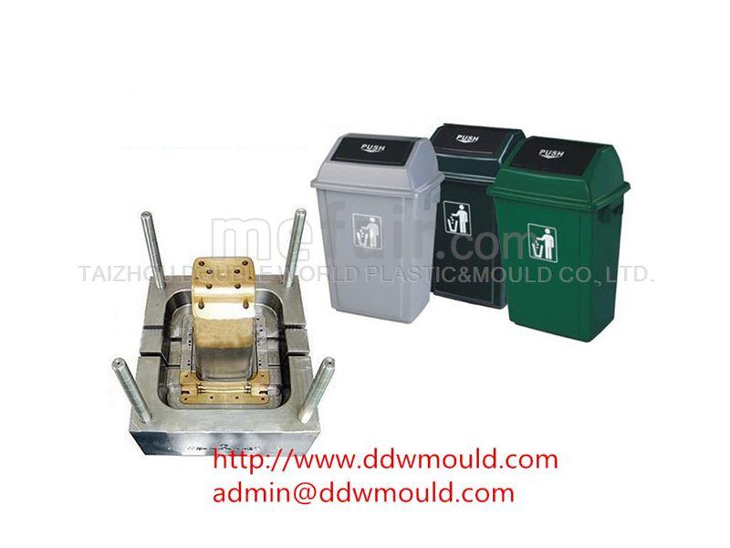 DDW Outdoor Using Plastic Trash Bin Mold Plastic Trash Can Mold