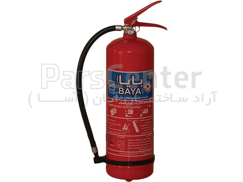 کپسول آتش نشانی 4 کیلویی پودر و گاز