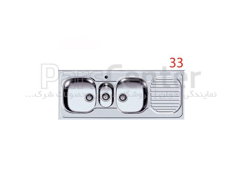 سینک ظرفشویی روکار اخوان فانتزی سه لگن مدل 33