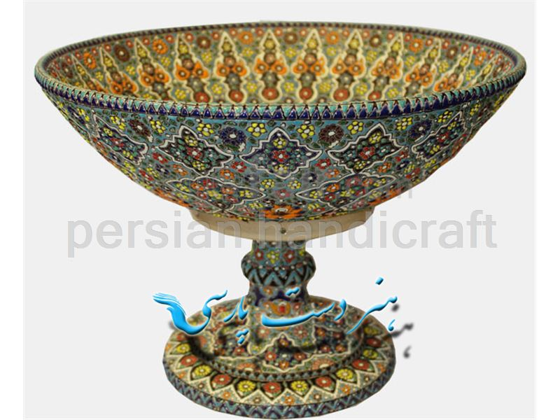 Fruit bowl with a height of 50 cm from the ceramics are ceramic enamel design