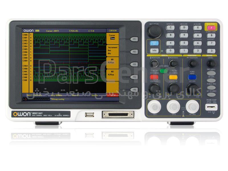 اسیلوسکوپ دو کاناله دیجیتال 60MHz با لاجیک آنالایزر مدل MSO-7062TD ساخت OWON هنگ کنگ