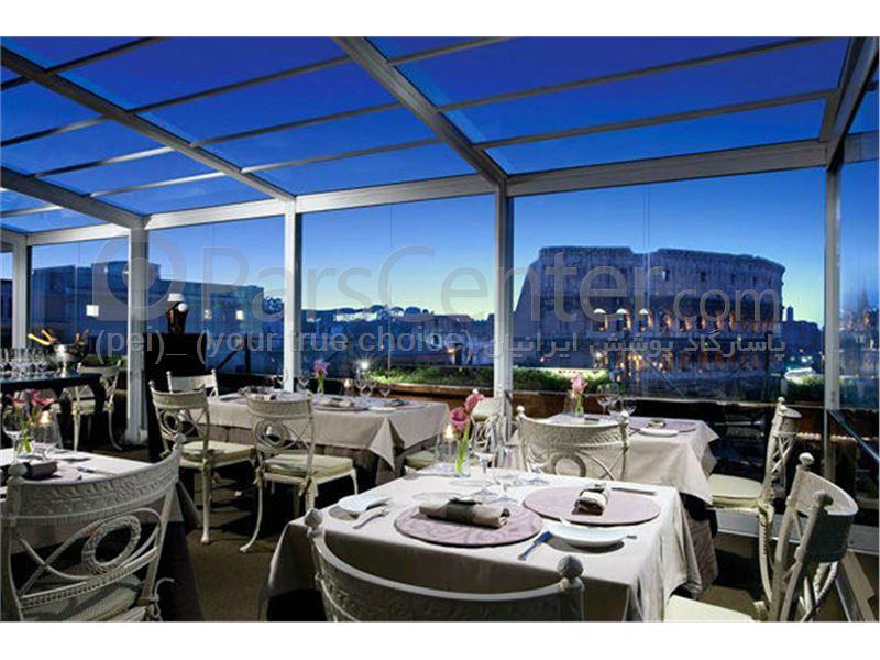 سیستم پوشش سقف متحرک رستوران مدل ال  8      The restaurant El movable roof system