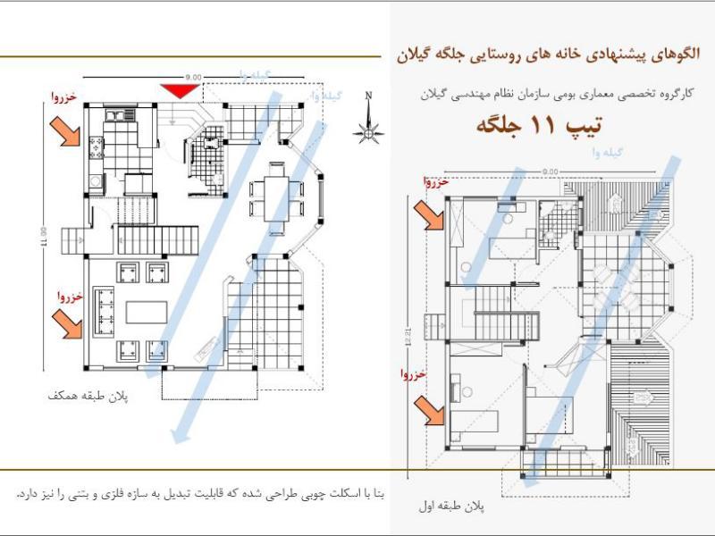 سازه پیش ساخته معماری سنتی گیلان 11 .(gilan traditional hose 11(