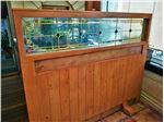 شیشه تزیینی و دکوراتیو استیندگلس ( تیفانی )برای پارتیشن و جدا کننده چوبی در رستوران ویکولو پاساژ مدرن الهیه