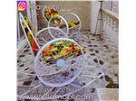 صندلی راک فلزی طرح گلبرگ