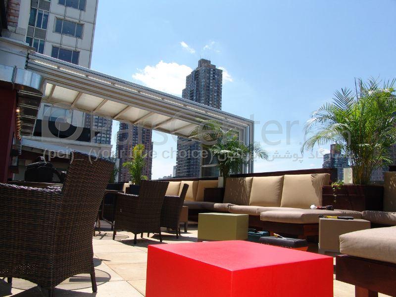 سیستم پوشش سقف متحرک رستوران مدل ال 7   The restaurant El movable roof system