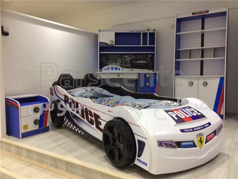 تخت ماشین پلیس
