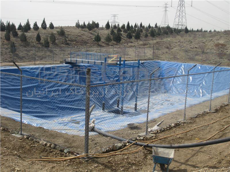 ساخت استخر کشاورزی با ورق ژئوممبران آبی، شهرداری منطقه 22