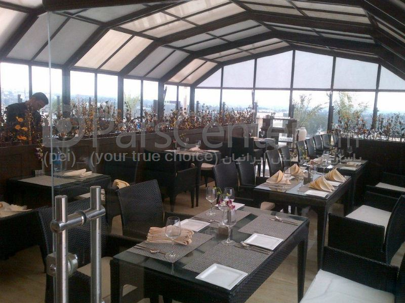 سیستم پوشش سالن متحرک  رستوران