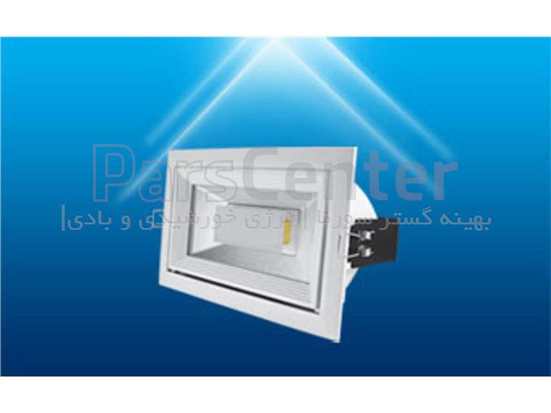 پرژکتور سقفی COB توکار 30 وات سفید مستطیلی فوق کم مصرف