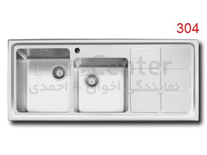 سینک ظرفشویی اخوان مدل 304