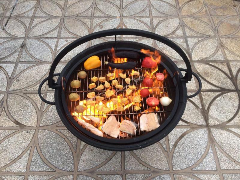 آتشدان هیزمی سوز و چوب سوز تیپ2 زغالی