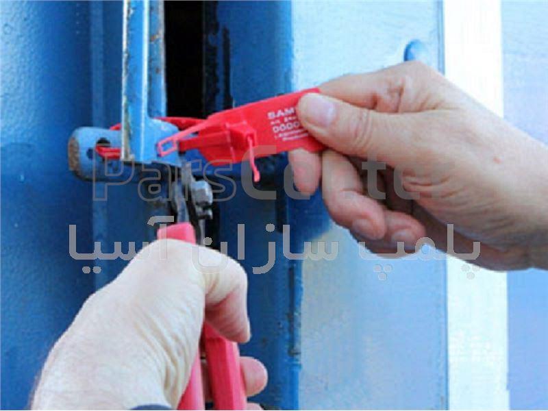 پلمپ تسمه ای پلاستیکی با قفل فلزی و تسمه باریک با ایمنی بالا استاندارد تست و بازرسی