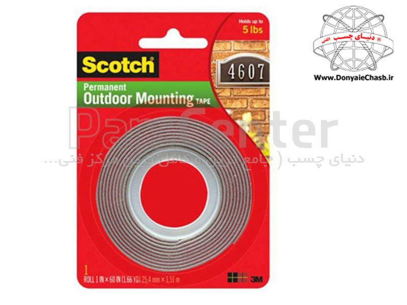 چسب نواری دوطرفه 3M Scotch Permanent Outdoor Mounting tape آمریکا