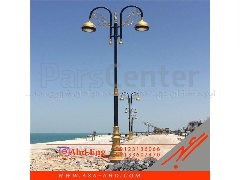 طراحی، تولید و توزیع انواع پایه چراغ های خیابانی 12 متری دکوراتیو
