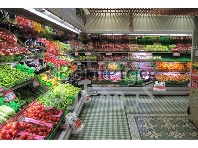 یخچال میوه و سبزیجات فروشگاهی،یخچال ایستاده فروشگاهی