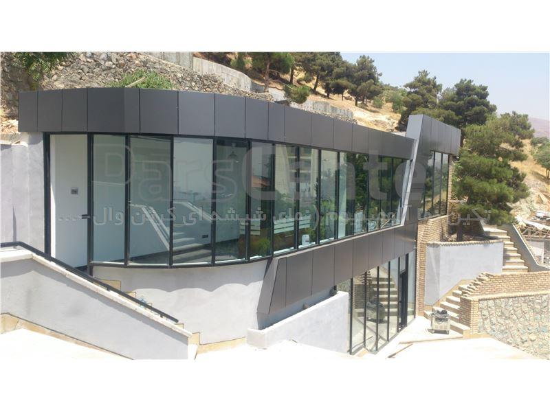 نمای شیشه ای کرتین وال درپوش دار - فیس کپ