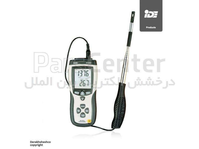 سرعت سنج باد با سنسور گرمایی مدل DT-8880 شرکت سی ای ام   CEM