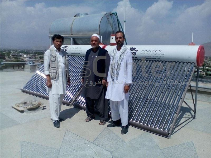 آبگرمکن خورشیدی 300 لیتری هوشمند وکیوم تیوپ