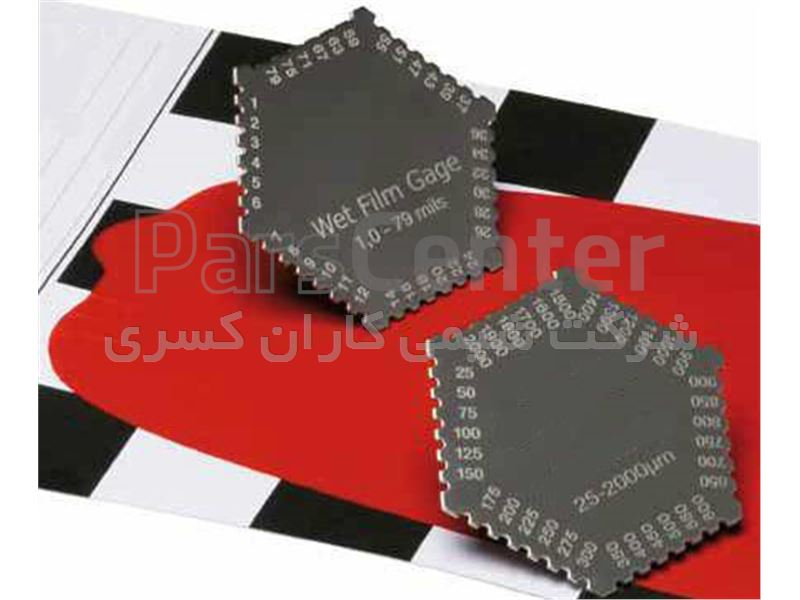 ضخامت سنج رنگ تر wet film  با قابلیت ضخامت سنجی رنگ تر و یا انواع پوشش های تر