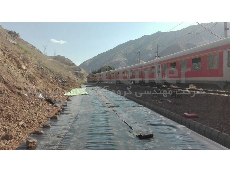 به کارگیری ژئوممبران در راه آهن مرزی جلفا