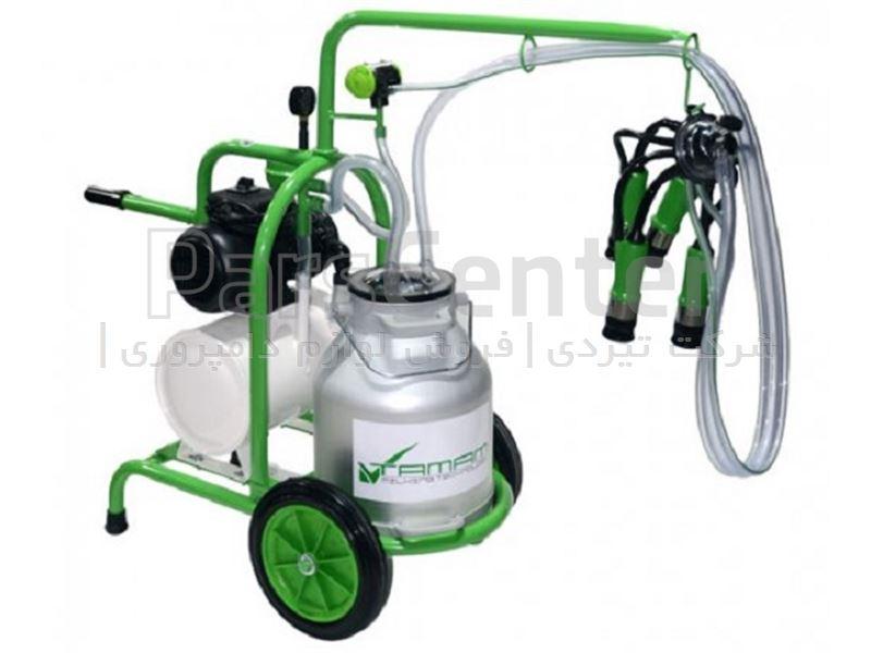 دستگاه شیردوش برقی گاو دوش ملاستی - تک واحد تک بیدون - رزرو تانک دار