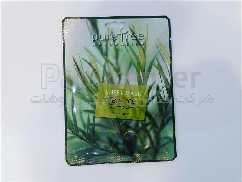 ماسک ورقی ( نقابی ) درخت چای پیورتری Puretree