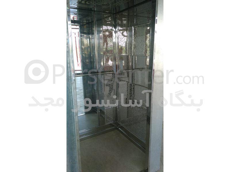 کابین آسانسور استیل طرح دار ( کهکشان )